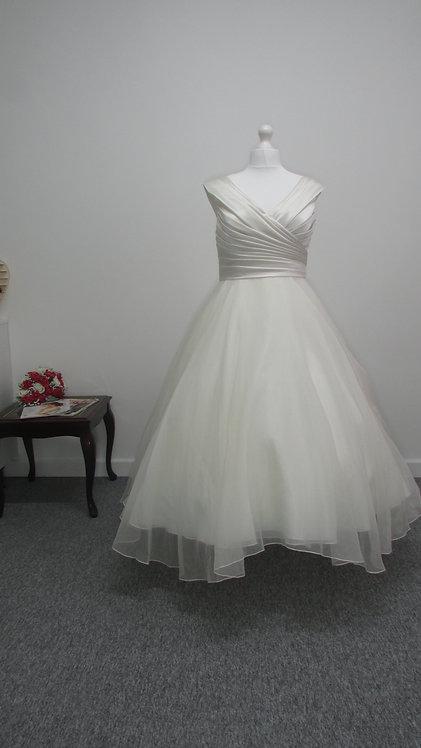 Lou Lou t-length wedding dress UK 20