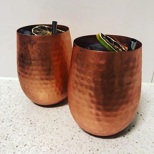 Merlot Mule in Copper Cups