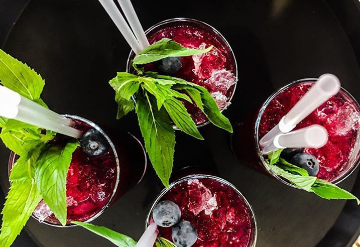 Blueberry elderflower mojitos from Saturday nights event. Drop me a message if your fancy