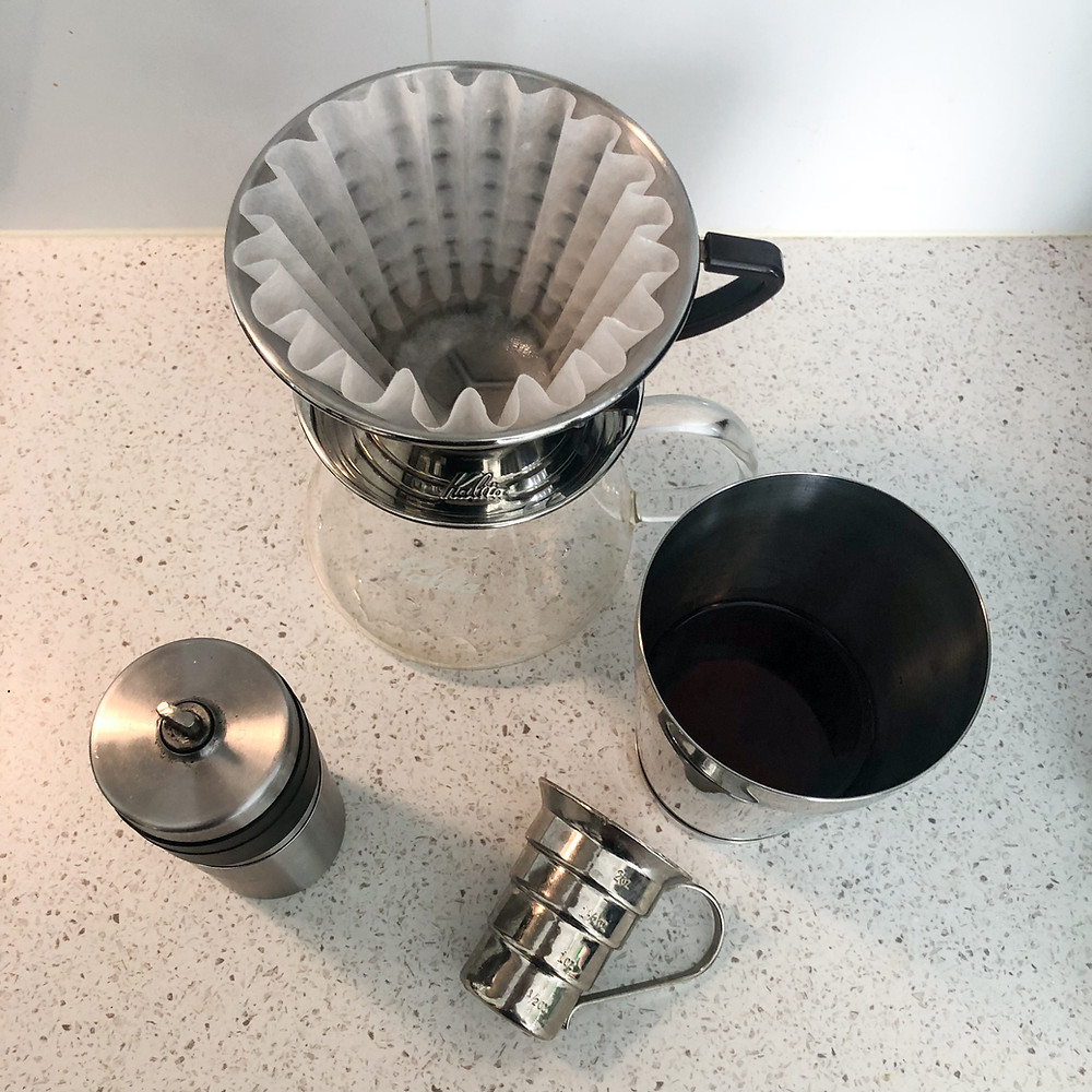 Kalita Wave with rinsed filter paper.