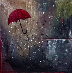 Raining Umbrella