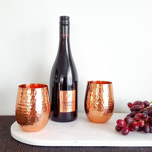 Handmade Copper Wine Glasses