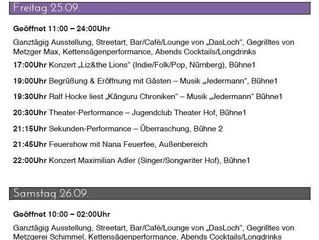 Das Programm zum Kunst- und Kulturfestival HOFTEXPLOSION