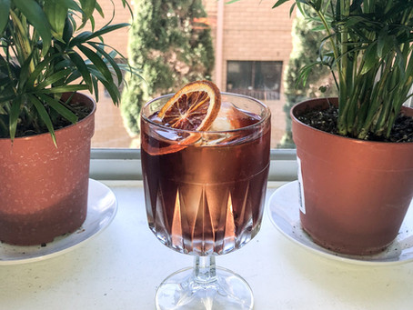 Pour Over Coffee Mezcal Negroni