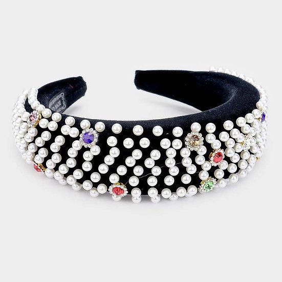 Black Pearl/Bling Headband