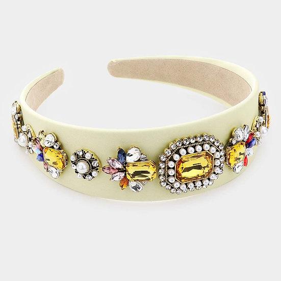 Cream Bling Headband