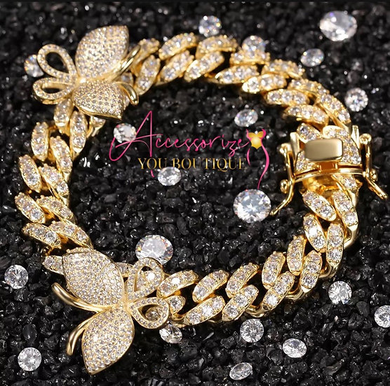 Butterfly Cuban Necklace Custom