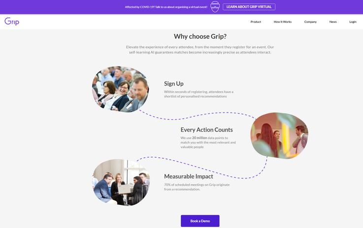 Grip homepage copy optimisation