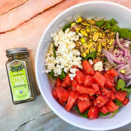Watermelon, Pistachio & Feta Summer Salad