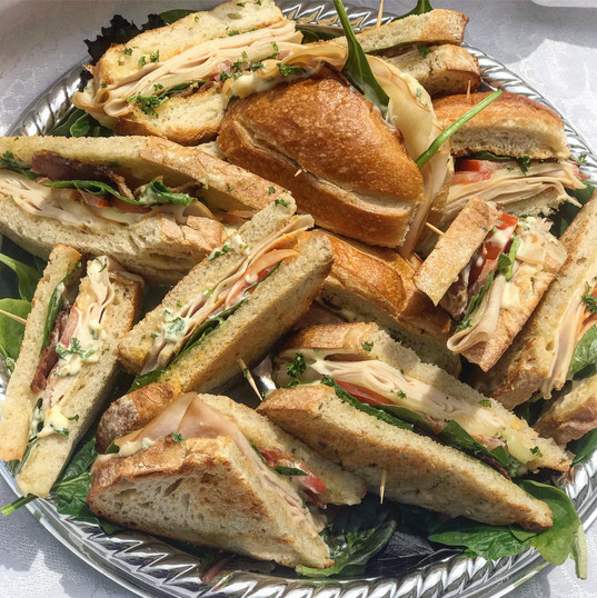 Roasted Turkey Sandwiches with Garlic Pa