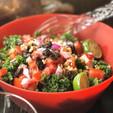 Fresh Kale Salad w Raisins & Walnuts _#k