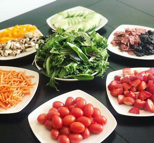 Fresh Salad Station_#salad #saladstation