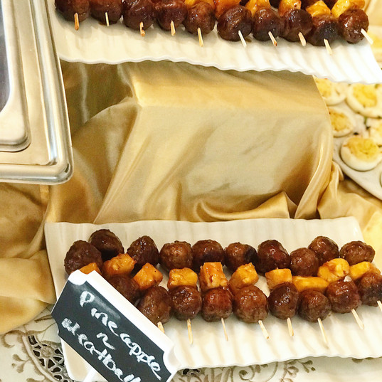 Mini Pineapple Meatball Kabobs