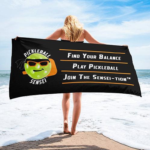 Pickleball Sensei Beach Towel