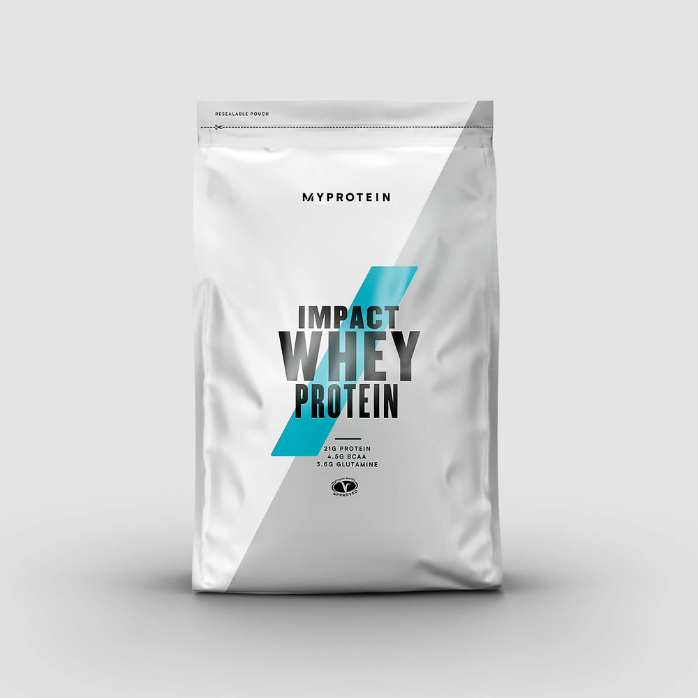 This is an image of impact whey protein by the brand MyProtein
