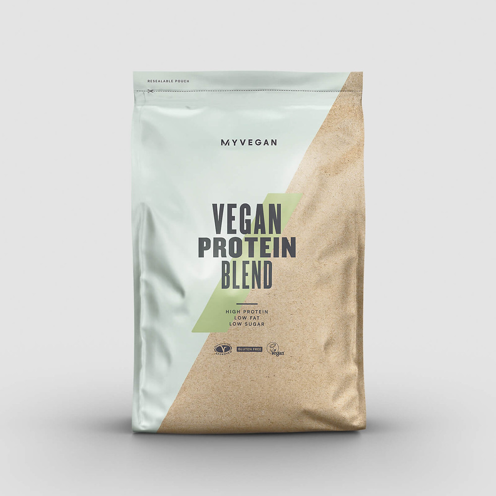 This is an image of a Vegan blend supplement that is made by the brand MyProtein