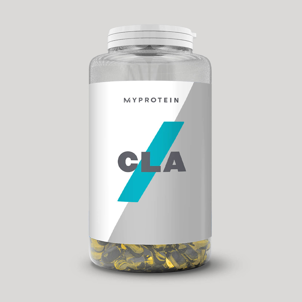 This is an image of CLA capsule softgels by the brand MyProtein that is specifically designed to target fat loss