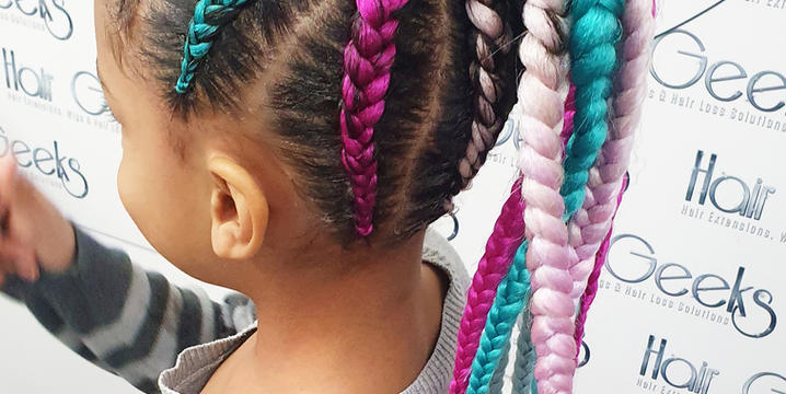 hair geeks braids pony