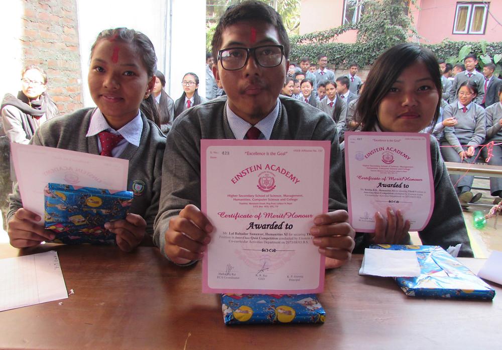 Hum XI Second Runner-up of EA Inter-Class Quiz Contest 2016