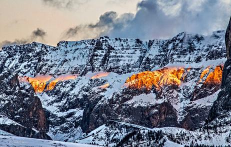 Sella group (Dolomites) at sunset