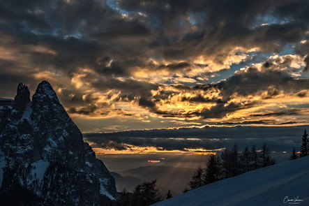 Sunset from Seiseralm