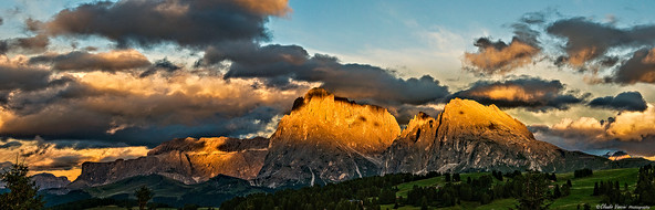 Sunset over the Dolomites
