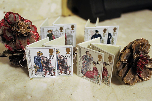 Jane Austen Book Earrings