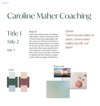 Caroline Maher Personal Branding and Website Design