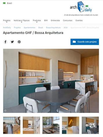 ArchDaily Apartamento  Projeto GHF