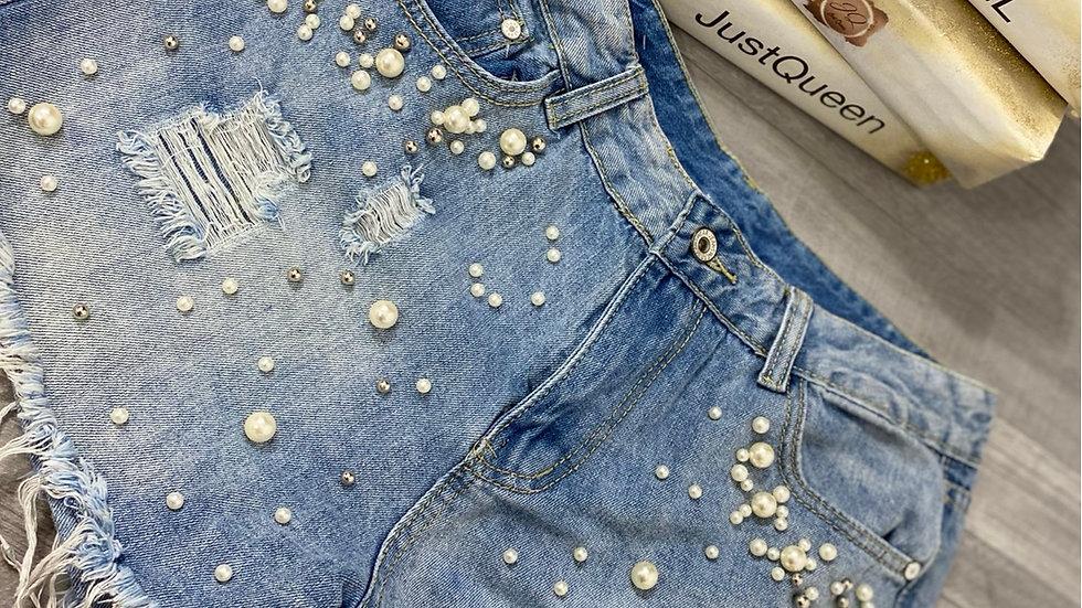 Short en jeans clair
