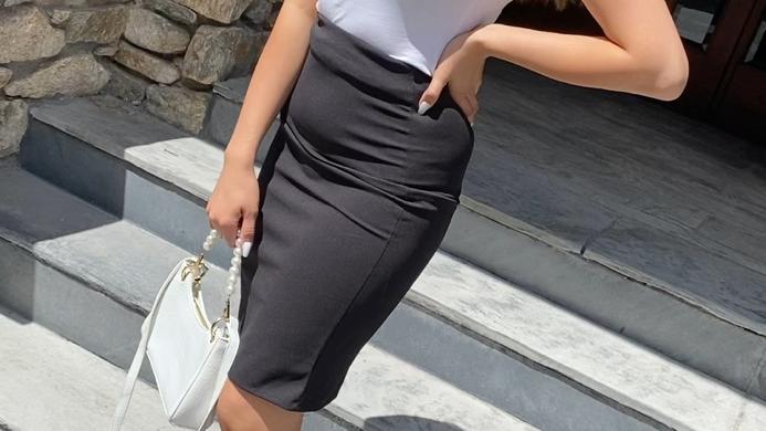 Jupe droite noir