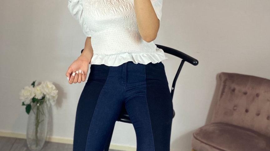 Jeans bicolore