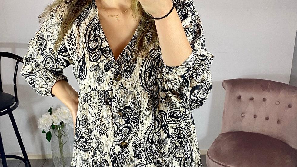 Robe tunique bouton
