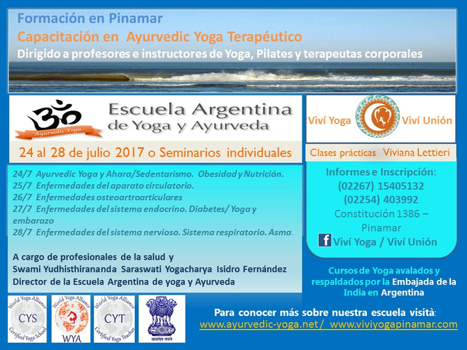 Especialización para instructores de Yoga en Pinamar
