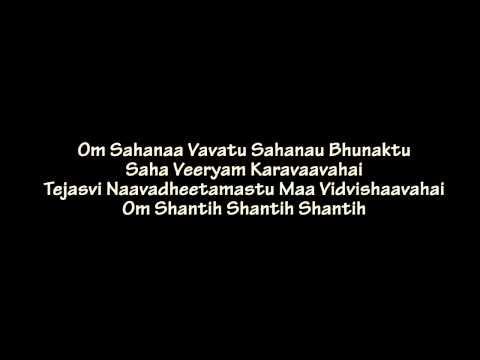Estamos cantando el Shanti Mantra...