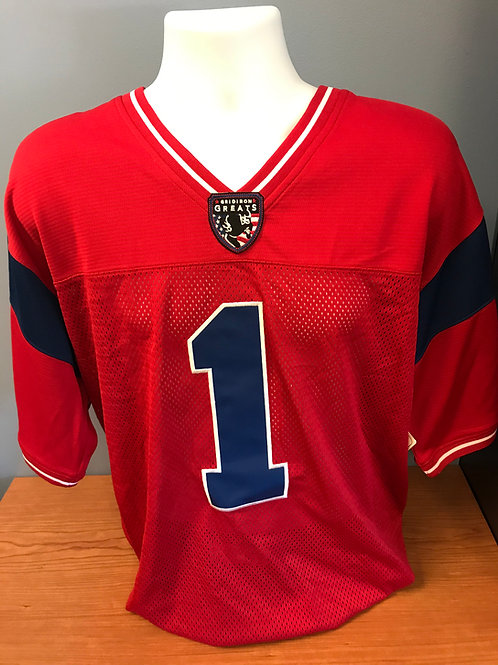 Red Gridiron Greats Jersey