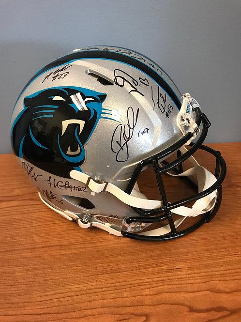 Carolina Panthers 2015 Teamed Signed Helmet