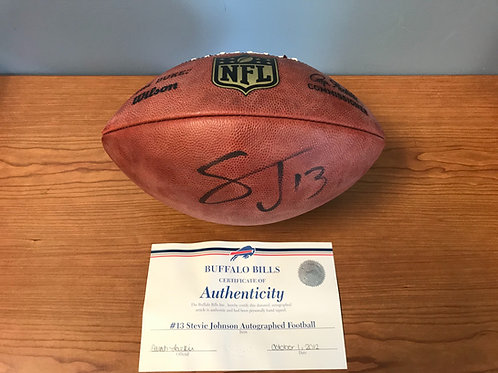 Stevie Johnson #13 Buffalo Bills Signed Football