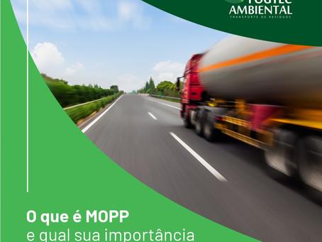 O que é o MOPP e qual a sua importância na gestão de resíduos?