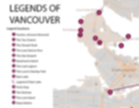 Legend of Vancouver Map