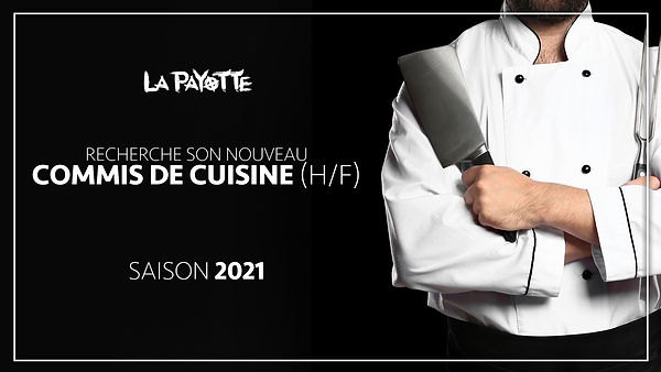offre d'emploi saisonnier 2021 commis de cuisine recrutement restaurant La Payotte maine et loire mazé milon angers