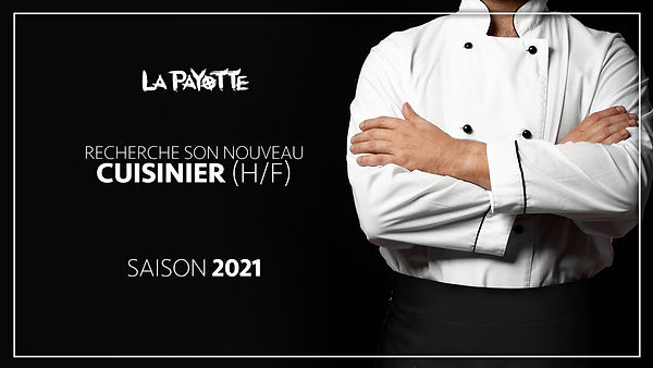 offre d'emploi saisonnier 2021 cuisinier recrutement restaurant La Payotte maine et loire mazé milon angers