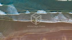 white edge over the sea