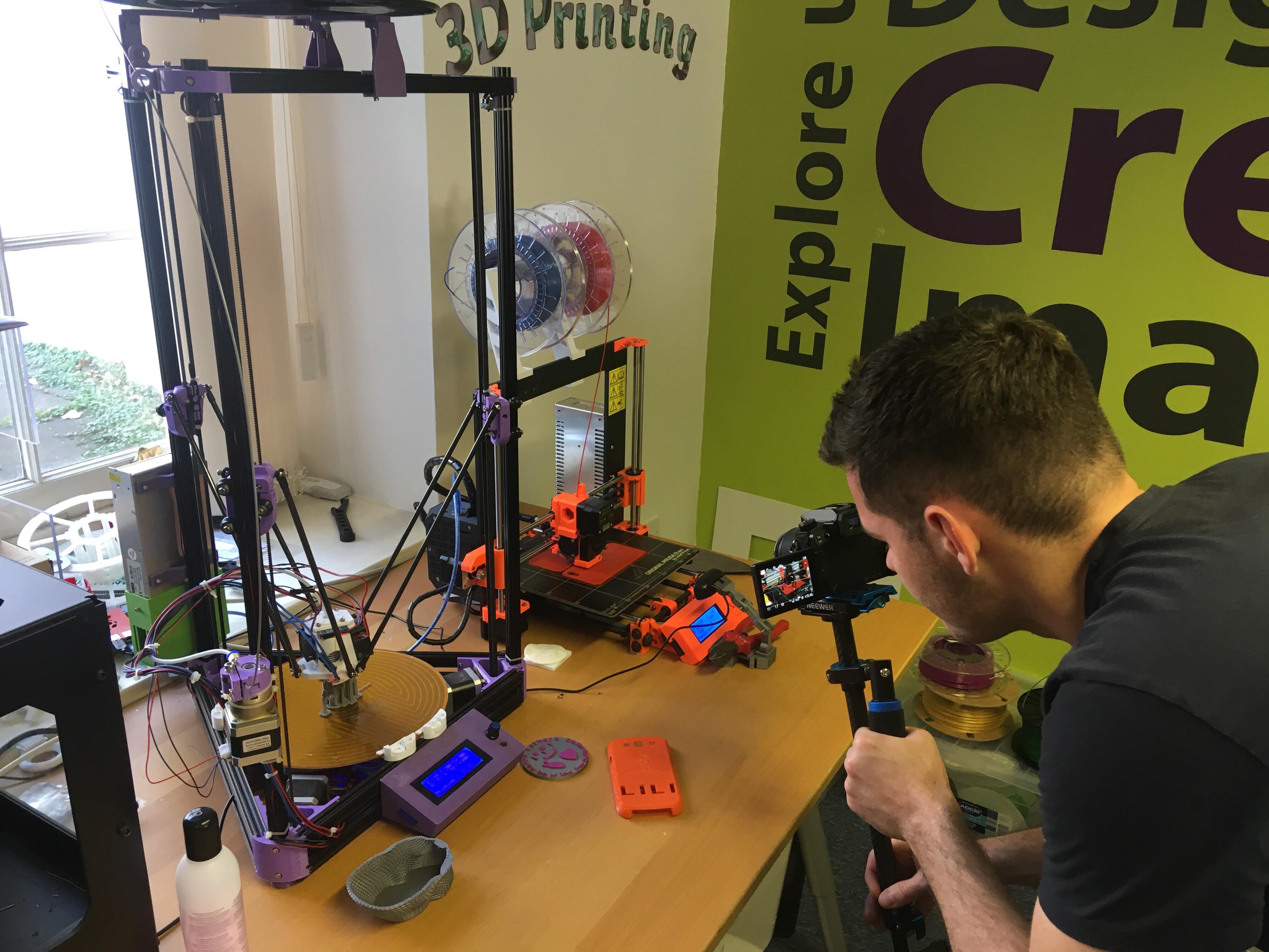 filming 3D printer