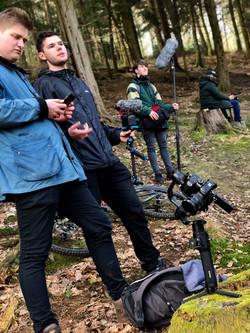 behind the scenes filming