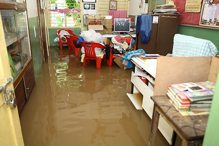 Flooding at Opportunity School in Chenna