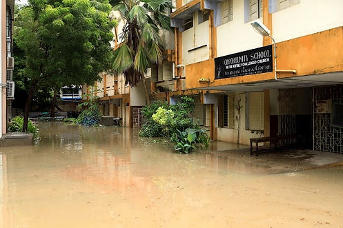 Flooding at Opportunity School - Oct 201
