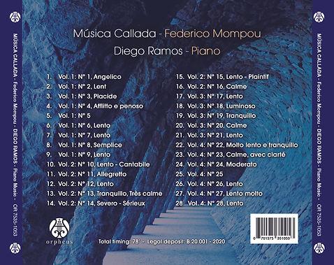 Música callada, Diego Ramos, contraport