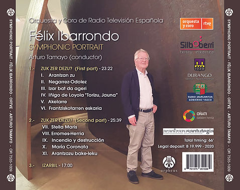 Contraportada Symphonic Portrait, Félix