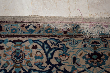 Carpet-case-moth carpet damage